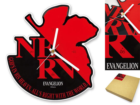 エヴァンゲリオン「NERV」マークがデザインされたアクリル製かけ時計が登場
