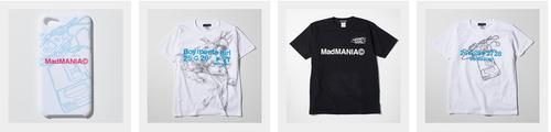 MadMANIA(C)から SDAT Tシャツ3種などが登場