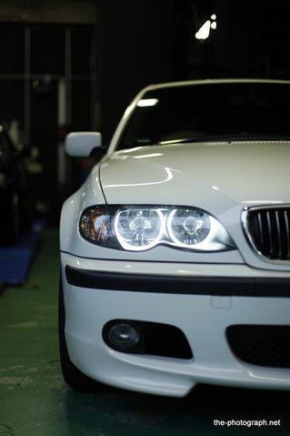 BMW E46 CCFL管 イカリング 装着後