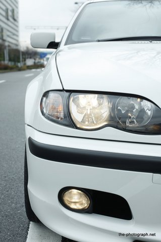 BMW E46 CCFL管 イカリング 装着前