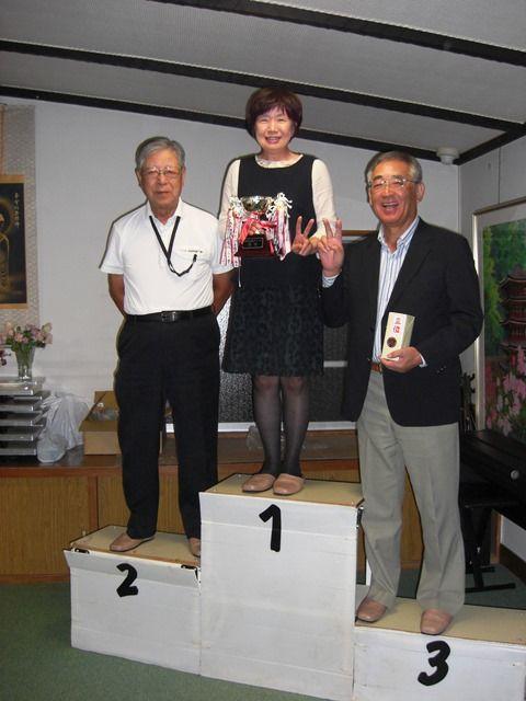 2017秋ゴルフ表彰台