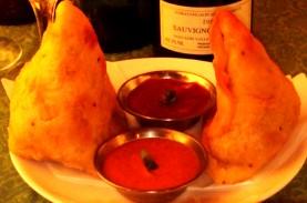ワインと野菜サモサ