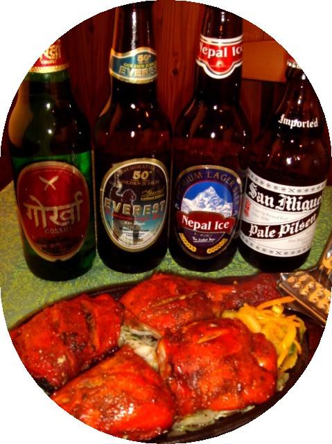 外国のビールとおつまみ
