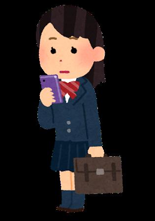 smartphone_schoolgirl_stand