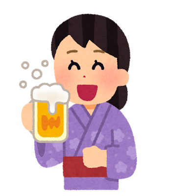 drink_beer_yukata_woman