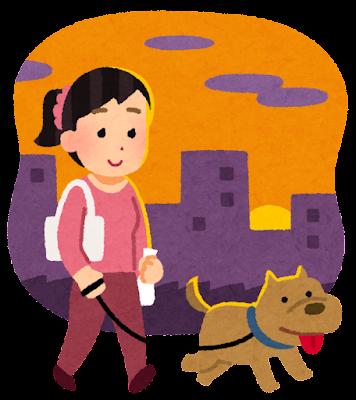 pet_dog_sanpo_yugata_woman