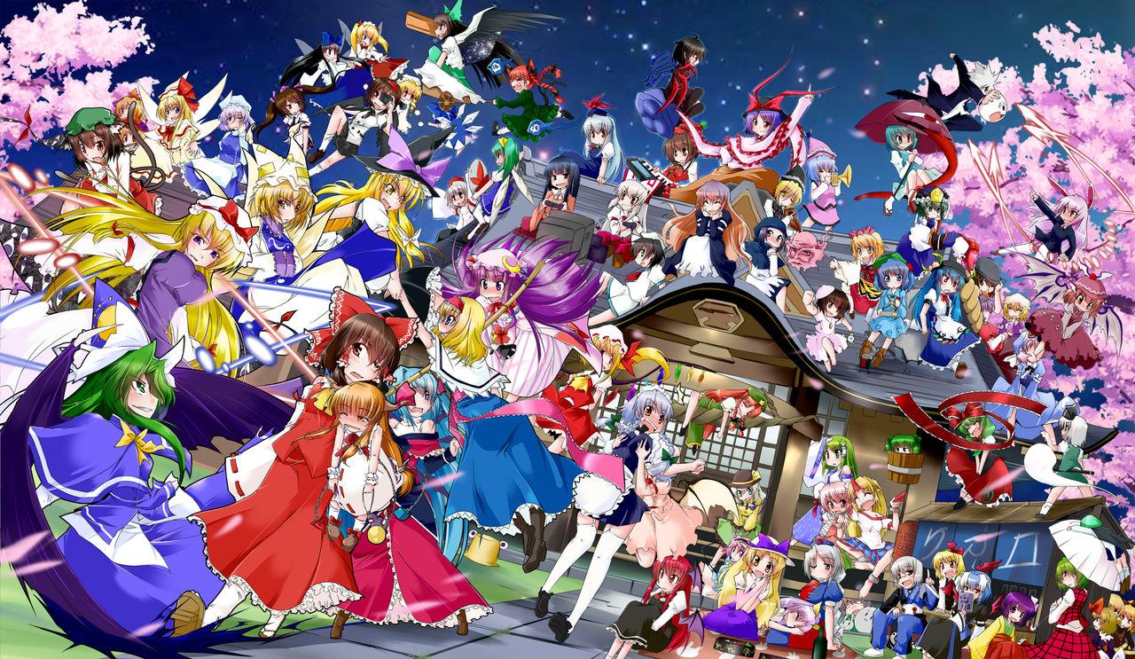 アニメの画像まとめブログ : 東方Projectのキャラクターの全員 ...