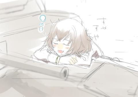 ガルパン寝ている-23