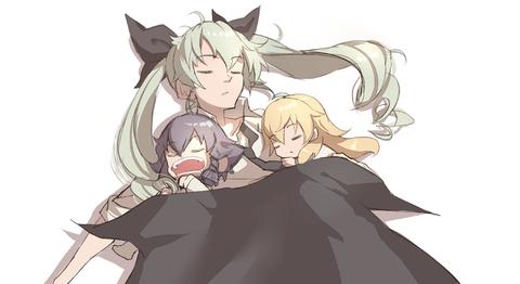 ガルパン寝ている-19