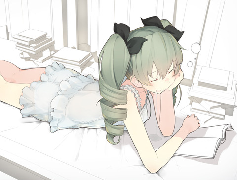 ガルパン寝ている-10