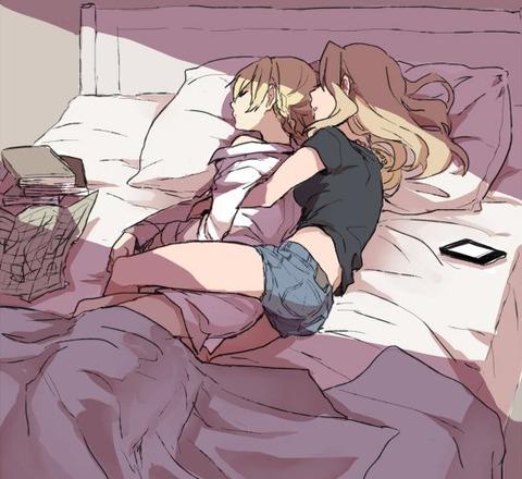ガルパン寝ている-11