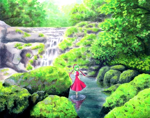 鍵山雛と森-01