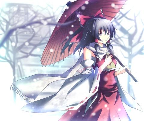 博麗霊夢と雪-32