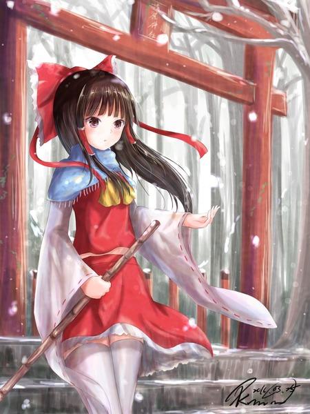 博麗霊夢と雪-03