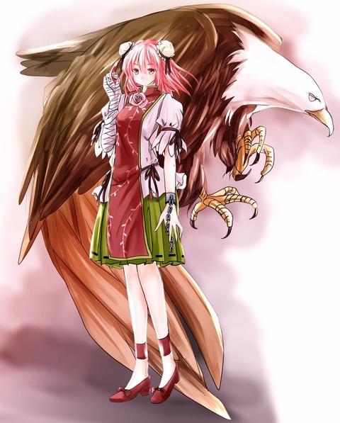 茨木華扇と鷲-22