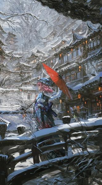西行寺幽々子と和傘-27