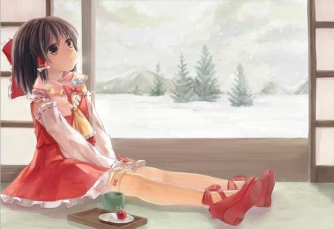 博麗霊夢と雪-27