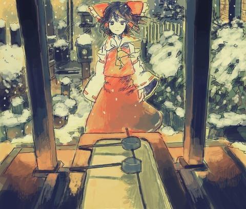 博麗霊夢と雪-35