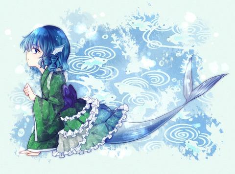 わかさぎ姫と魚-15