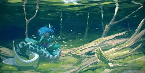 わかさぎ姫と魚-06