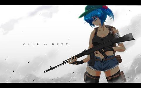 河城にとりと銃-05