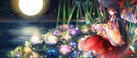 輝夜と満月の竹林-31