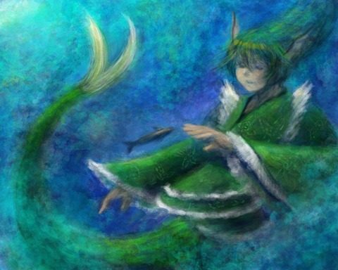 わかさぎ姫と魚-14