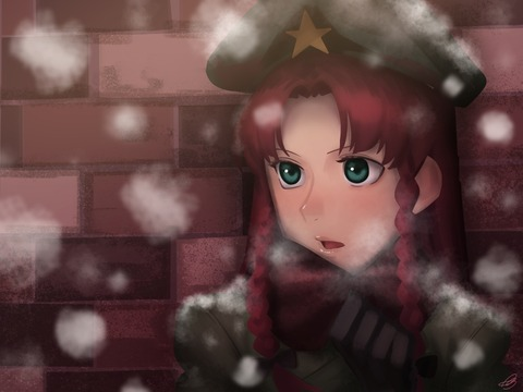 紅美鈴冬服-34