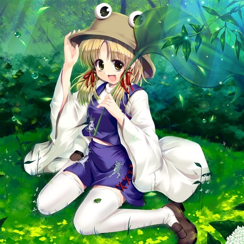 洩矢諏訪子と葉っぱ傘-49