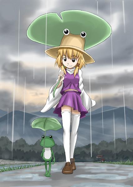 洩矢諏訪子と葉っぱ傘-24