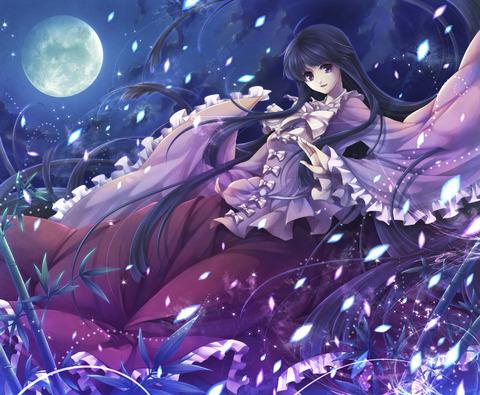 輝夜と満月の竹林-35