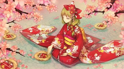 鍵山雛と花-12