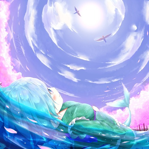 わかさぎ姫と魚-23