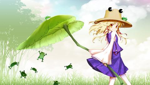 洩矢諏訪子と葉っぱ傘-05