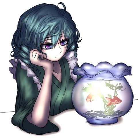 わかさぎ姫と魚-02