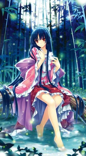 輝夜と満月の竹林-13