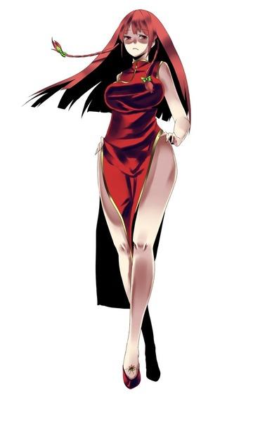 紅美鈴チャイナドレス-13