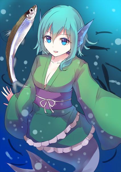 わかさぎ姫と魚-13