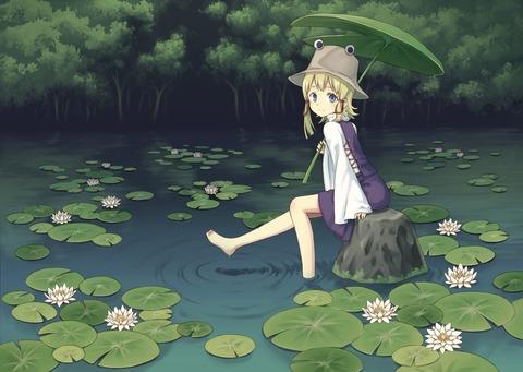 洩矢諏訪子と葉っぱ傘-22