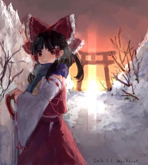 博麗霊夢と雪-49