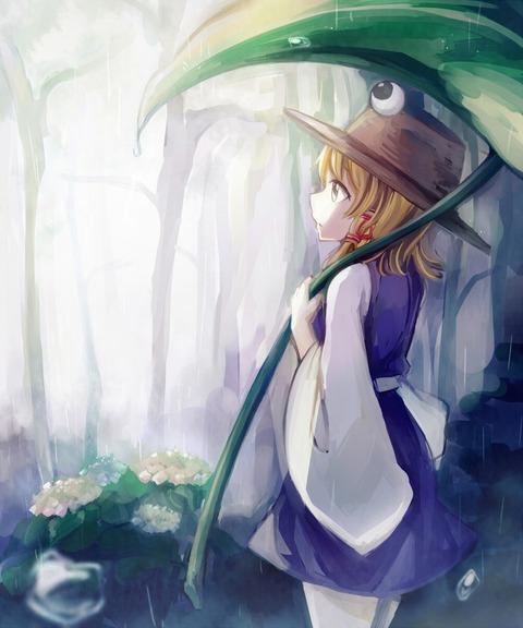 洩矢諏訪子と葉っぱ傘-48