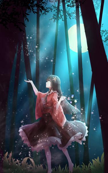 輝夜と満月の竹林-26