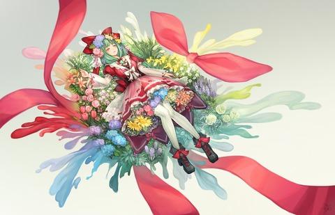 鍵山雛と花-26