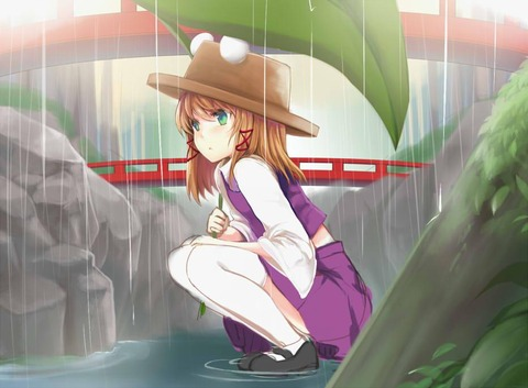 洩矢諏訪子と葉っぱ傘-23