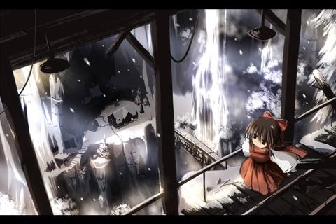 博麗霊夢と雪-17