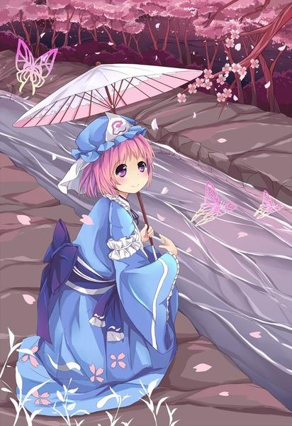 西行寺幽々子と和傘-19