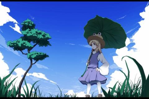 洩矢諏訪子と葉っぱ傘-41