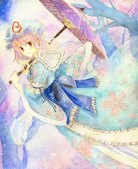 西行寺幽々子と和傘-15