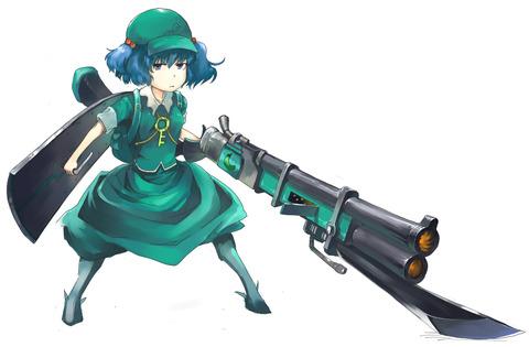 河城にとりと銃-02