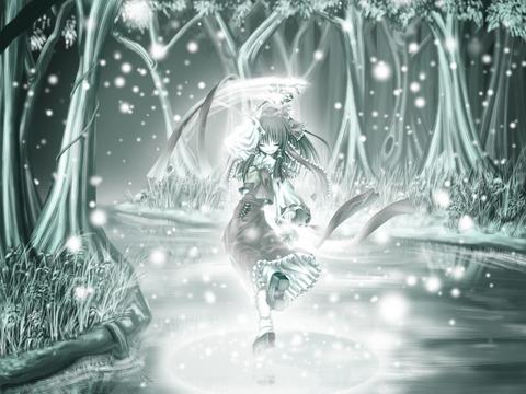 博麗霊夢と雪-40